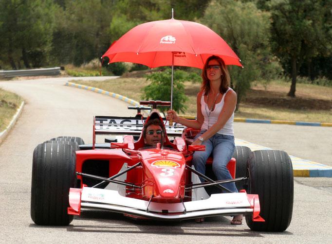 F1 Rennwagen fahren