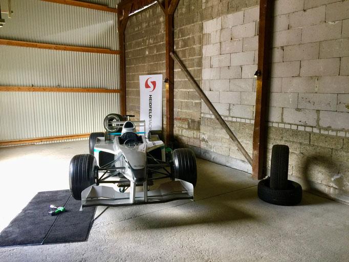 Formel 1 Rennwagen Reifenwechsel Simulator ausleihen
