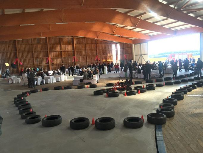 Mobile Kettcarbahn für Firmen Motorsport Event