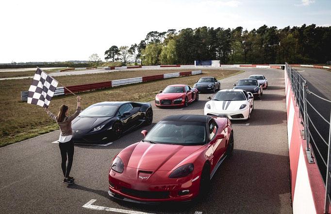 Automobil Event auf der Rennstrecke