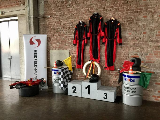 Motorsport und Rennsport Dekoration mieten