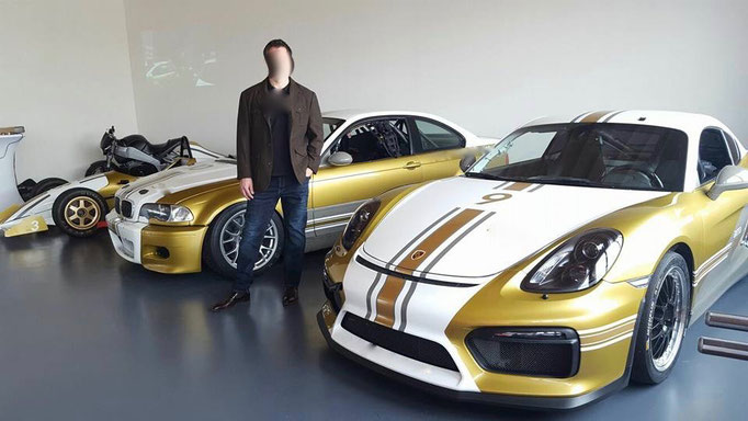 Porsche Rennwagen fahren