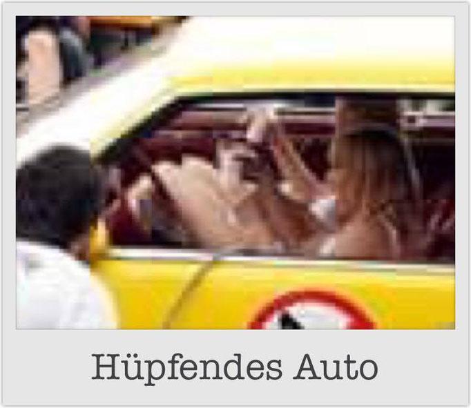 Hüpfendes Auto