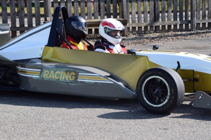 Formel Doppelsitzer Renntaxi Co Pilot