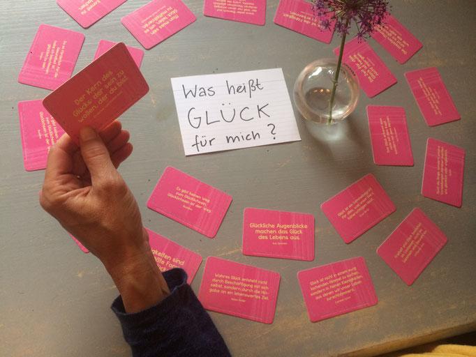Glücks-Gespräche - Aktion im Café Frühtau