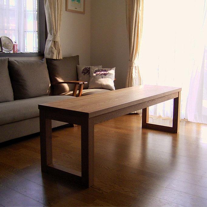 横に長いセンターテーブル(相模原市・K様邸)