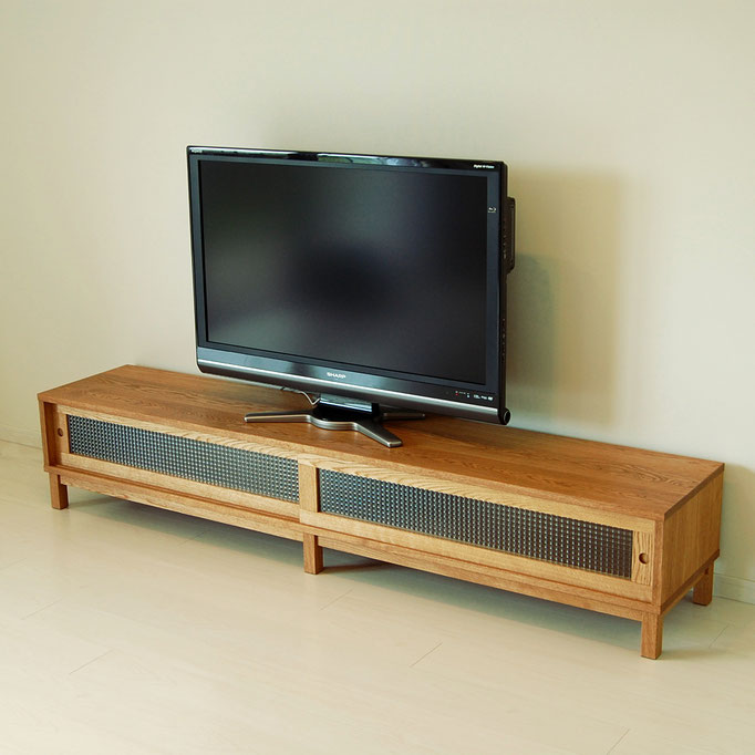 ナラのシンプルテレビボード(八王子市・S様邸)