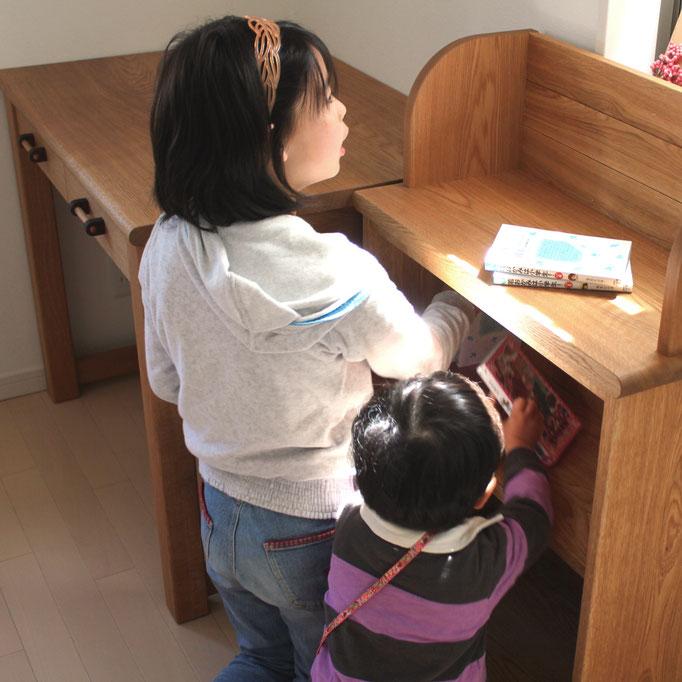 シンプル学習机&本棚(横浜市・I様邸)