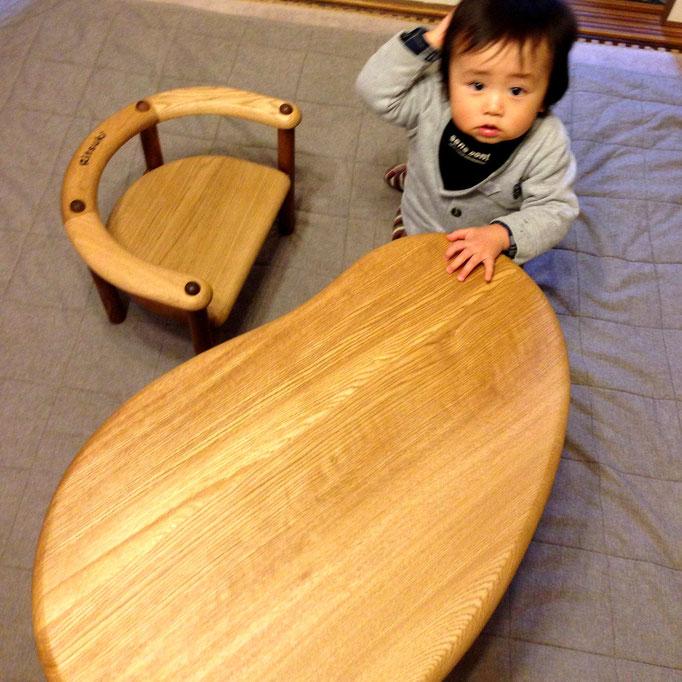 U字の子供椅子&豆型テーブル(W様)