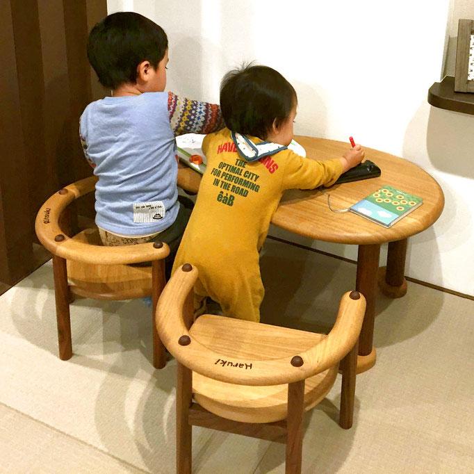 U字の子供椅子&豆型テーブル(W様邸)