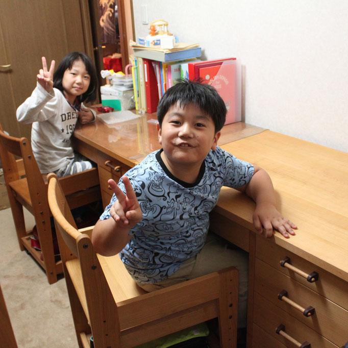 框組学習机&学習椅子(荒川区・F様邸)