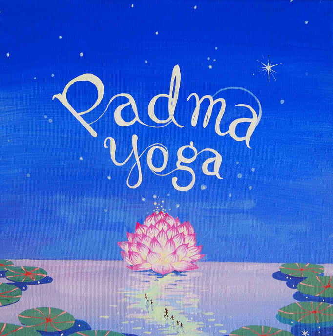 "'Padma Yoga' 13x13"" Acrylic on canvas"