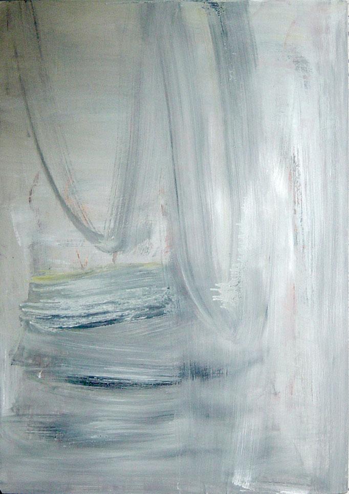 """""""o.T."""", 70x100x5cm, Öl, Lack auf Aluminium, 2010"""