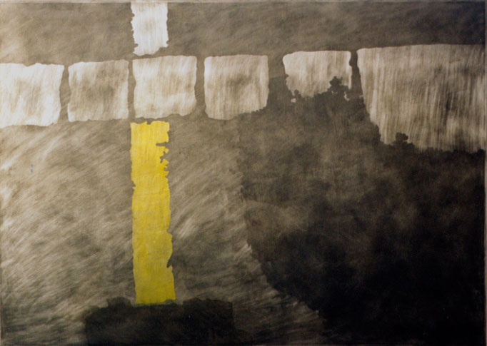 """""""N 48° 20`13,67´´- E 16°22´42,66"""", 2000, 100x70x5cm, Aluminium, Transparentfarbe"""