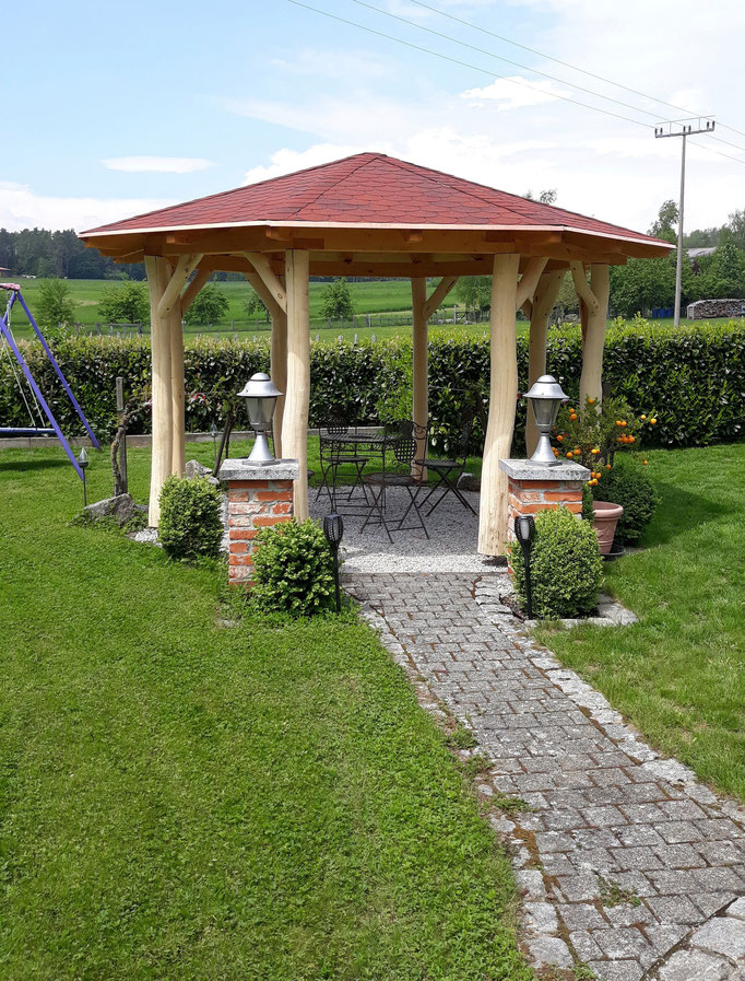 8-Eck Gartenpavillon aus Holz