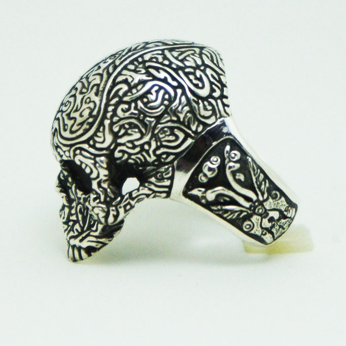 two face skull ring material : sv 925 color : Porished size : 29mm x 18mm x 13mm