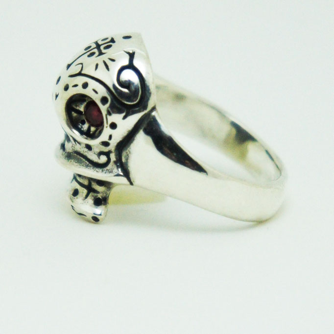 mexican skull ring material : sv 925 color : Porished size : 18mm x 14mm x 7mm