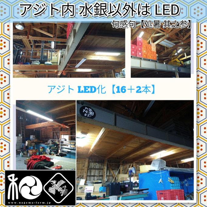 旬感句 【処暑 其之参】 『アジト内 水銀以外は LED』
