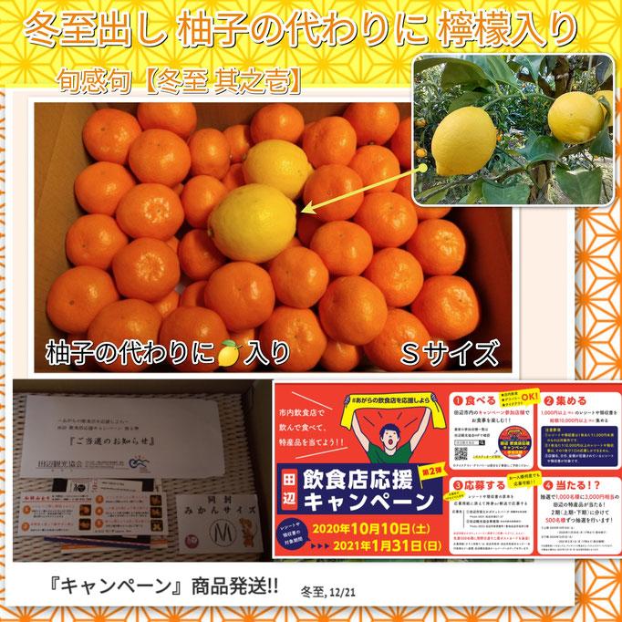 旬感句 【冬至 其之壱】 『冬至出し 柚子の代わりに 檸檬入り』
