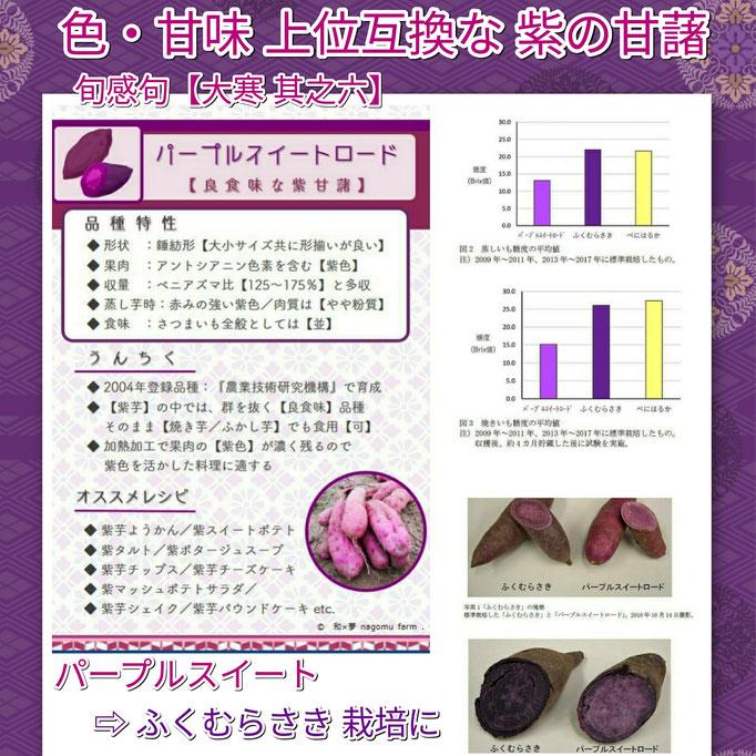 旬感句 【大寒 其之六】 『色・甘味 上位互換な 紫の甘藷』