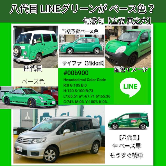 旬感句 【立夏 其之六】 『八代目 LINEグリーンが ベース色?』