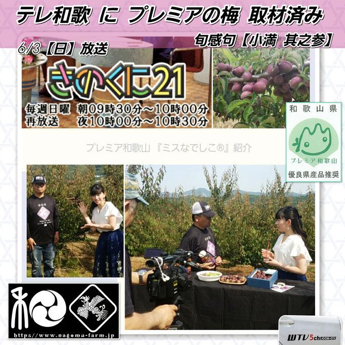 テレビ和歌山『あっとテレ和歌』 【プレミア和歌山紹介】 ミスなでしこⓇ 和×夢 nagomu farm