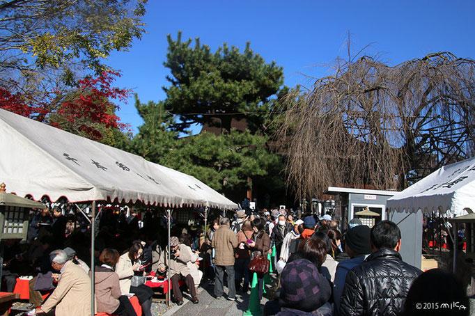大根だきの日の境内(千本釈迦堂)