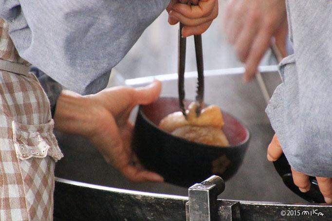 大根炊き(器に大根を入れてくださったところ)千本釈迦堂