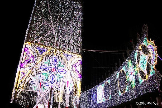 スッパリエーラ「光と音の大パノラマ」⑤(東遊園地・南噴水広場)/神戸ルミナリエ2016年