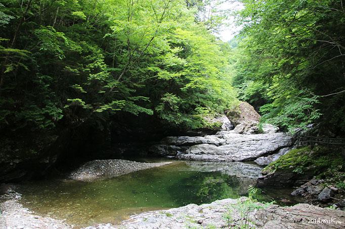 みたらい渓谷と吉野山