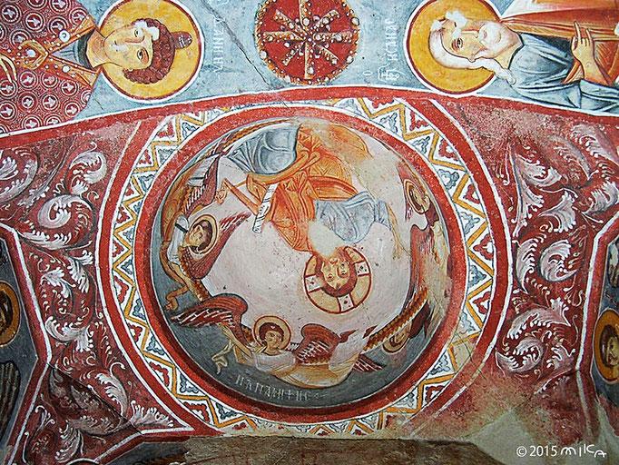 岩窟教会のフレスコ画①(ギョレメ野外博物館保存)トルコカッパドギア