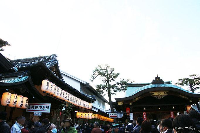 京都ゑびす神社の境内(十日えびす)