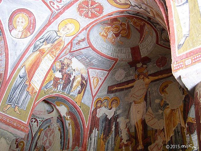 岩窟教会のフレスコ画②(ギョレメ野外博物館保存)トルコカッパドギア