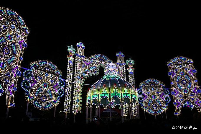 スパッリエーラ「栄光の宝石」(東遊園地・広場)②/神戸ルミナリエ2016年