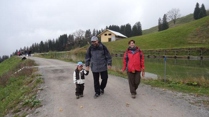 Fam. Friedli mit dem jüngsten. Max 3 Jahre