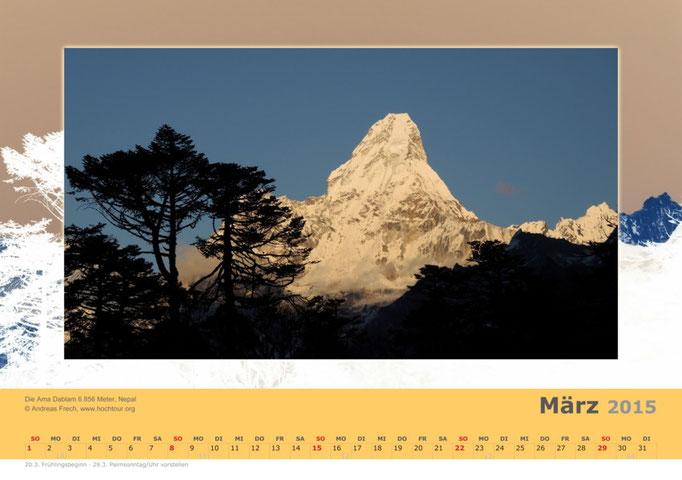 Die Ama Dablam, Nepal, Bild© Bergführer & Fotograf Andreas Frech
