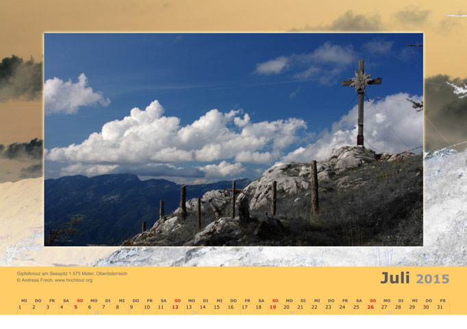 Gipfelkreuz am Seespitz, Region Pyhrn Priel, Oberösterreich, Bild© Bergführer & Fotograf Andreas Frech