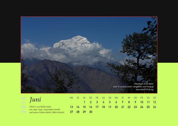 Dhaulagiri, Kalenderblatt Juni, Bild: Bergführer & Fotograf Andreas Frech