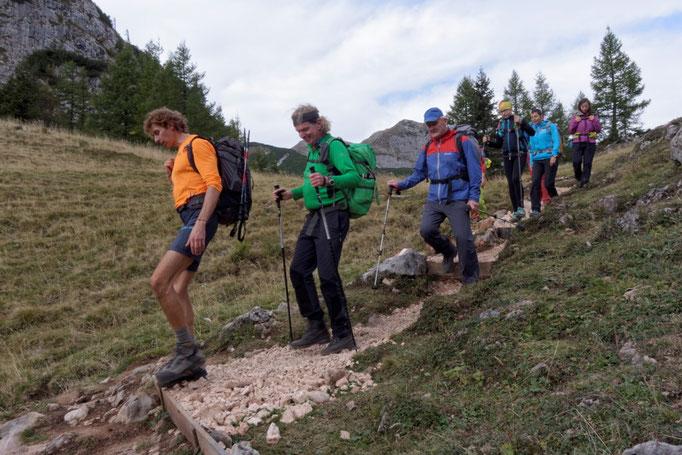 24 Stunden Wanderung für Nepal, Abstieg zur Wurzeralm