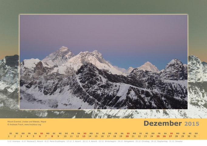Mount Everest, Lhotse und Makalu, Nepal, Bild© Bergführer & Fotograf Andreas Frech