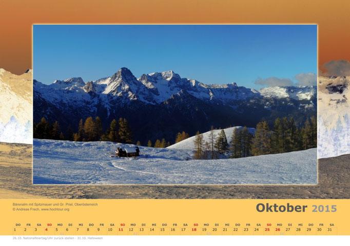 Bärenalm mit Spitzmauer und Gr. Priel, Totes Gebirge, Region Pyhrn Priel, Oberösterreich, Bild© Bergführer & Fotograf Andreas Frech