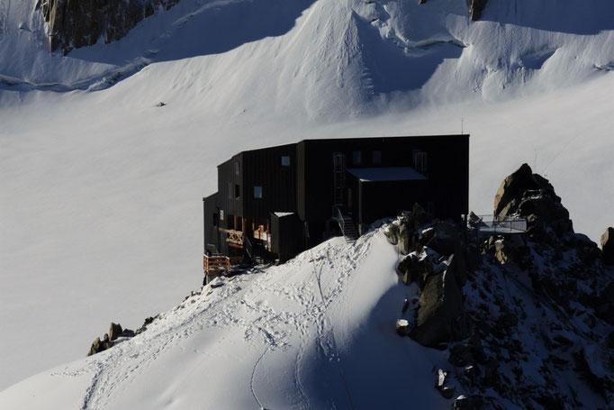 Refugio Cosmique Ausgangspunkt bei der Mont Blanc Überschreitung