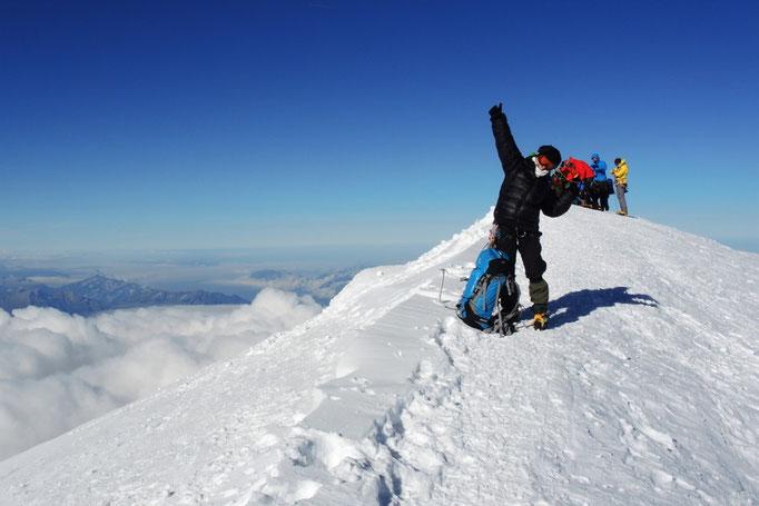 Erfolgreich am Gipfel der Alpen