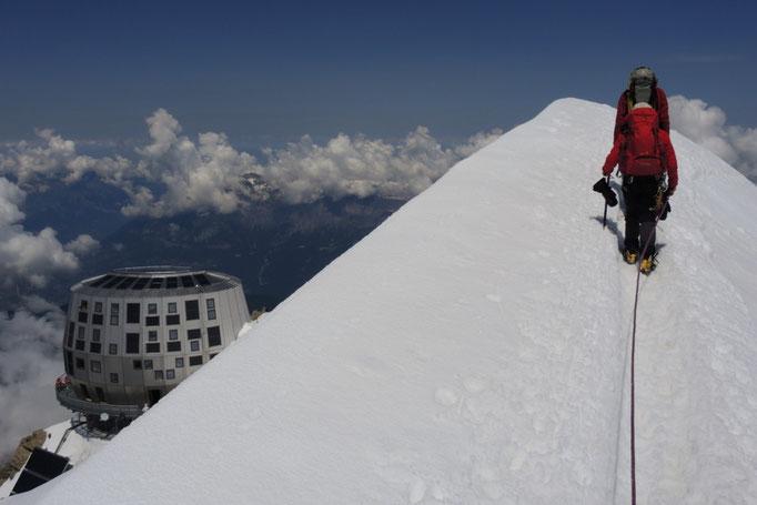 Refuge Gouter Hut am Mont Blanc Normalweg