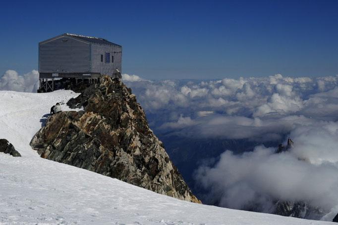Abri Vallot Shelter am Normalweg zum Mont Blanc