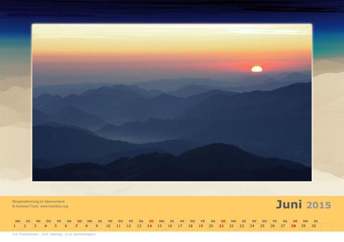Sonnenaufgang überm Alpenvorland, Region Pyhrn Priel, Oberösterreich, Bild© Bergführer & Fotograf Andreas Frech