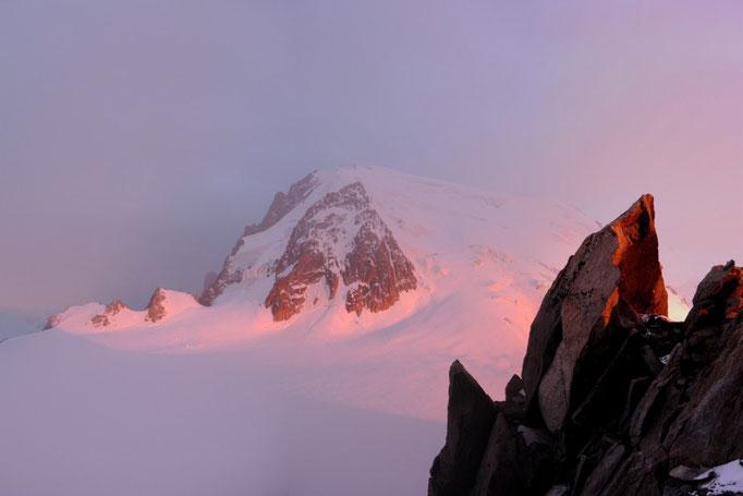 Mont Blanc du Tacul vom Refuge Cosmique