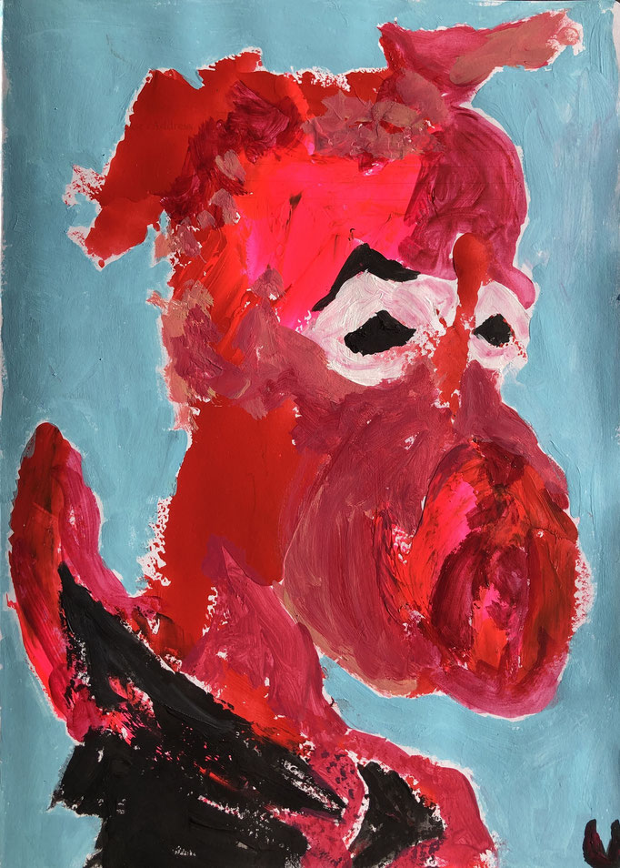 MEIN LIEBLING, Acryl auf Papier, 39 cm x 29 cm