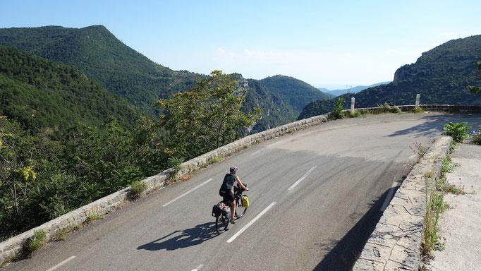 Anstieg zum Col de Braus