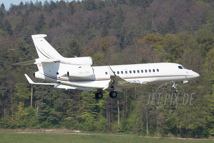 HB-JUC Private Dassault 7X 2017 04 30 ZRH